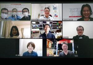 第7回「港北区の魅力発信」は、緊急事態宣言中のためオンライン会議システム「Zoom(ズーム)」で収録